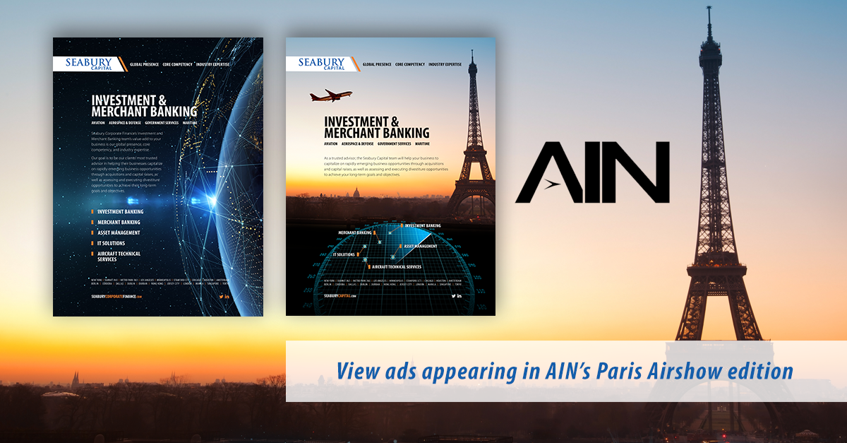 Seabury Capital ads in AIN's Paris Airshow 2019 edition
